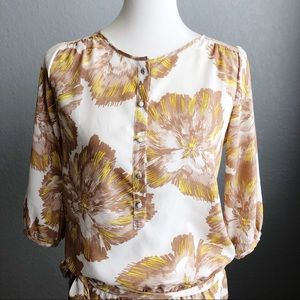 NY&C | Yellow Floral Blouse